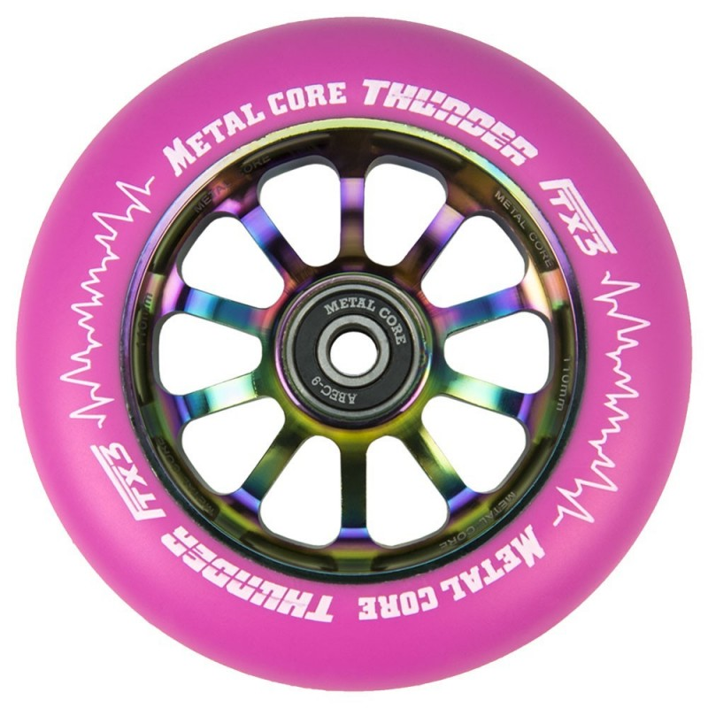 THUNDER FLUOR METAL CORE PINK PU AND RAINBOW CORE